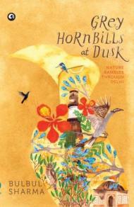 Grey Hornbills at Dusk by Bulbul Sharma