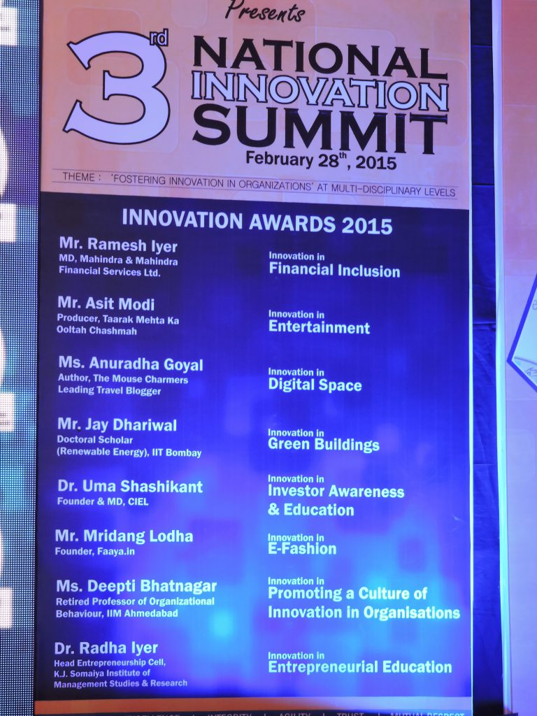 National Innovation Summit 2015