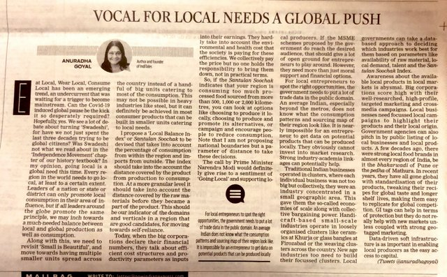 Vocal for Local Needs a Global Push