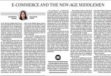 Ecommerce new age middlemen article New Indian Express on Oct 21, 2020