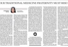 india traditional medicine fraternity new indian express