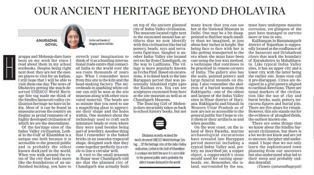 Indus Valley Heritage in India New Indian Express