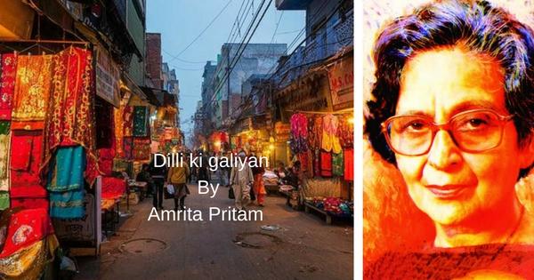 Dilli ki Galiyan by Amrita Pritam